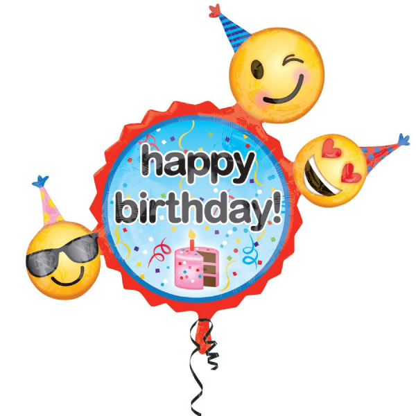 Emoticon Birthday Wishes SuperShape™